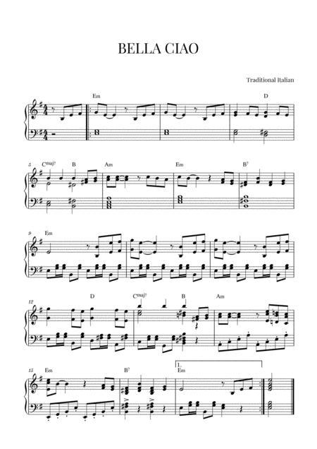 BELLA CIAO for Piano