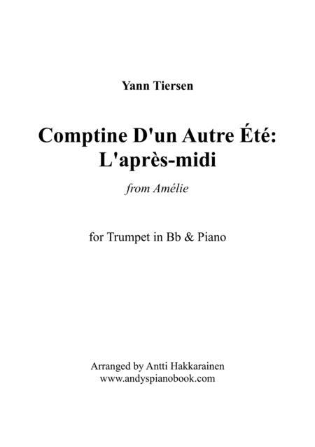 Comptine D'un Autre Été: L'après-midi (from Amélie) - Trumpet & Piano