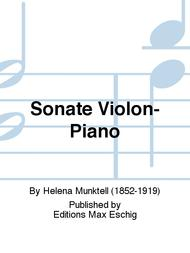 Sonate Violon-Piano