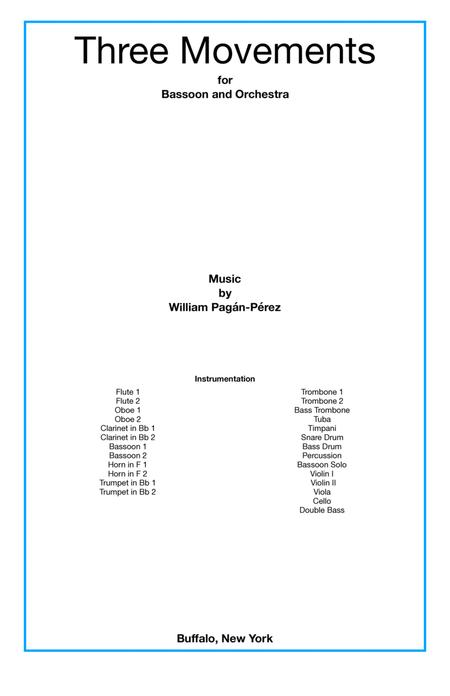 Three Movements (for bassoon and orchestra)