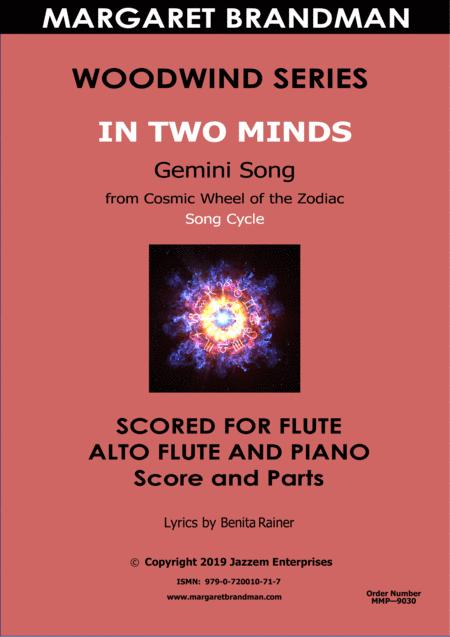 In Two Minds _ Flute, Alto flute and piano arrangement
