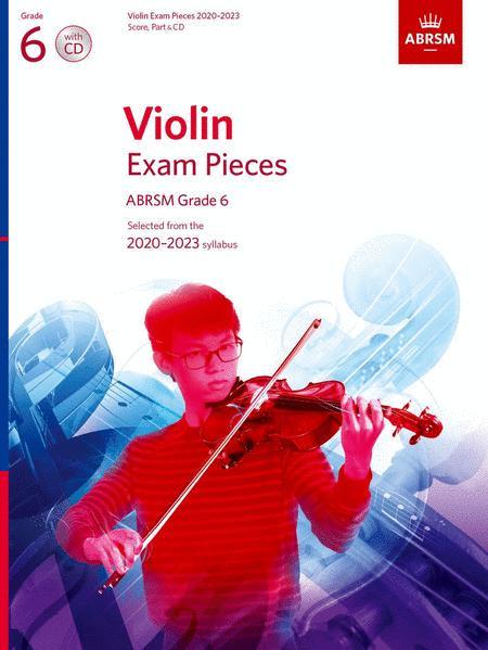 Violin Exam Pieces 2020-2023, ABRSM Grade 6, Score, Part & CD