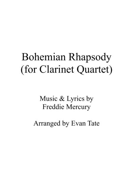 Bohemian Rhapsody (for Clarinet Quartet)