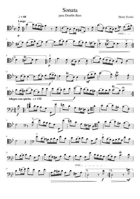 Sonata para Double Bass