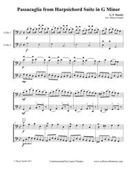 Passacaglia in G Minor Arranged for Two Cellos (cello duet, cello duo)