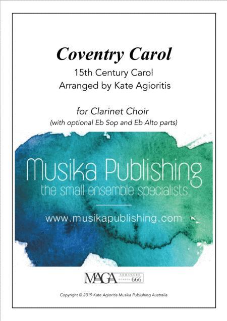 Coventry Carol - Jazz Arrangement - Clarinet Choir
