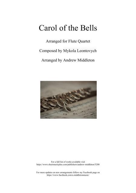 Carol of the Bells arranged for Flute Quartet