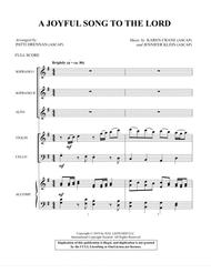 A Joyful Song to the Lord (arr. Patti Drennan) - Score for SSA
