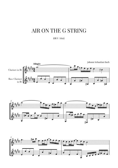 Bach: Air on the G String for Clarinet and Bass Clarinet (Woodwind Duo)