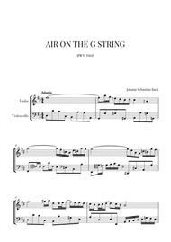 Bach: Air on the G String for Violin and Violoncello