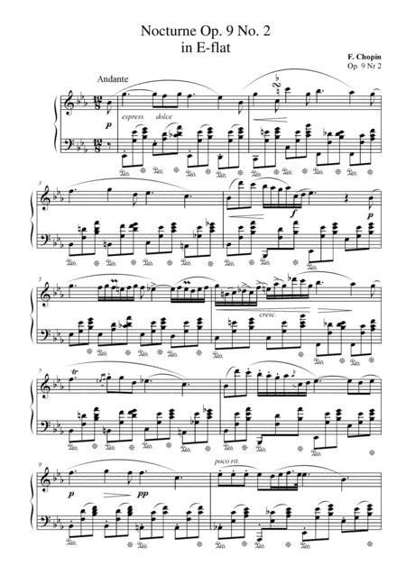 Nocturne Op. 9 No. 2 in E-flat