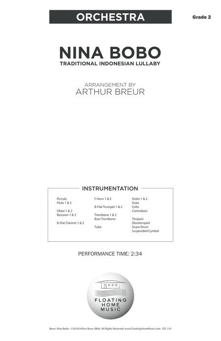 Nina Bobo - A Traditional Indonesian Lullaby - Orchestra Score & Parts