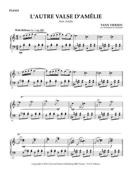 Download Lautre Valse Damélie Sheet Music By Yann Tiersen