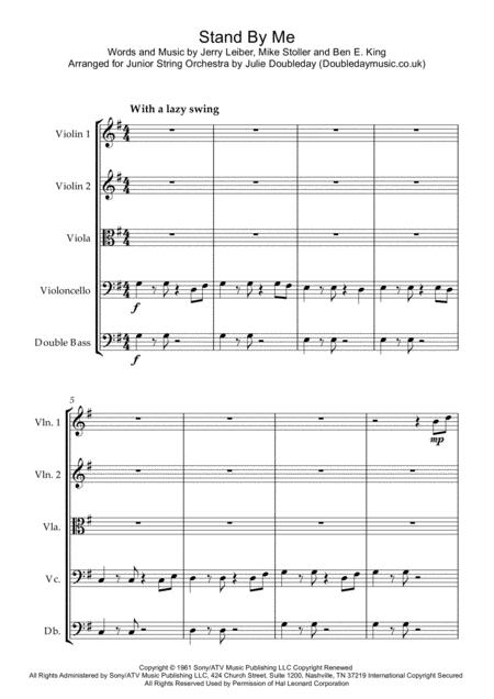 Stand By Me for Junior String Orchestra - Score and Parts
