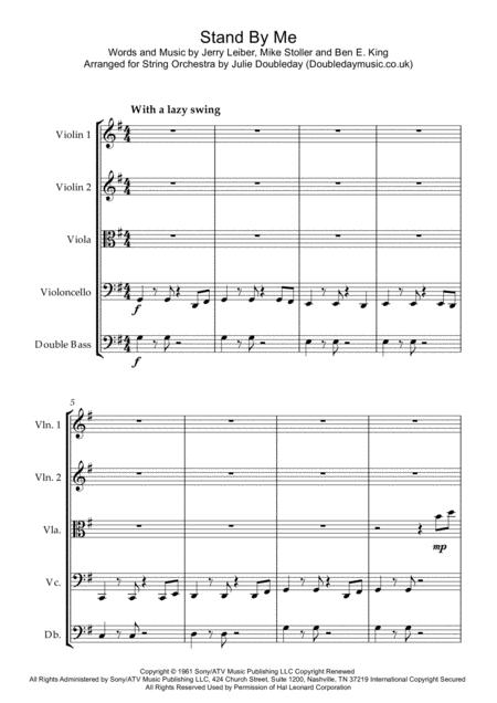 Stand By Me for String Orchestra - Score and Parts