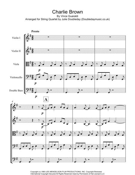 Charlie Brown Theme for String Orchestra - Score and Parts
