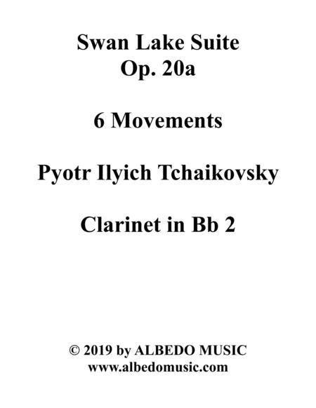 Swan Lake Suite, 6 Movements and 8 Movements - Clarinet in Bb 2 (Transposed Part)