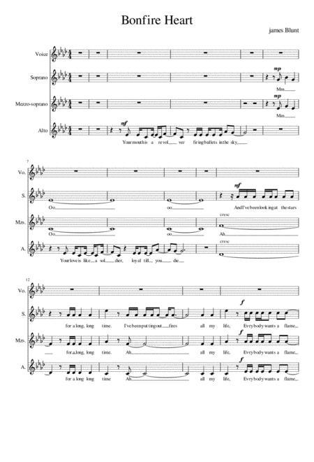 Bonfire Heart - choral arrangement SSA