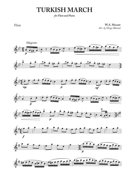 Turkish March for Flute and Piano