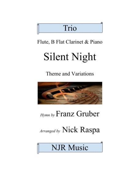Silent Night (variations) Trio for Flute, Clarinet & Piano (adv int)