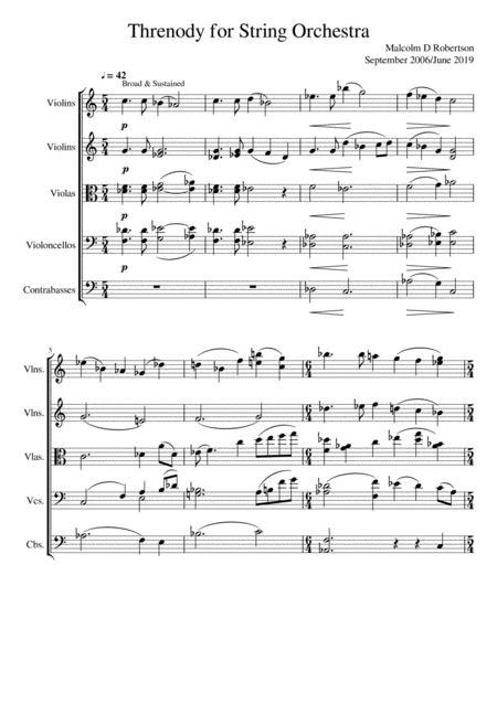 Threnody for String Orchestra