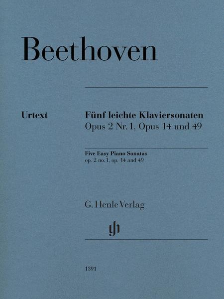 Five Easy Piano Sonatas Op. 2 no. 1, Op. 14 and Op. 49
