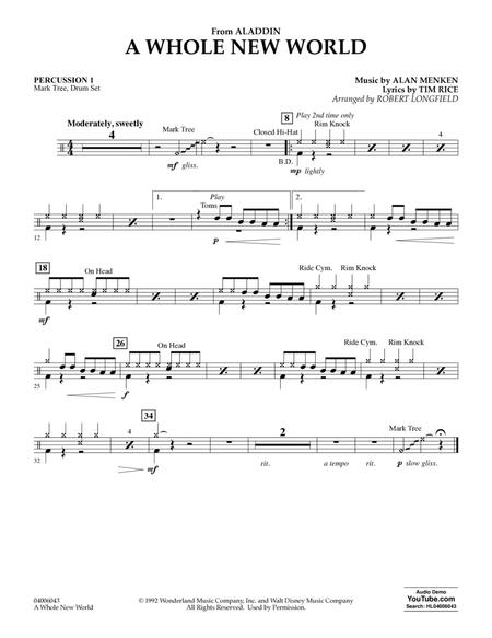 A Whole New World (from Aladdin) (arr. Robert Longfield) - Percussion 1