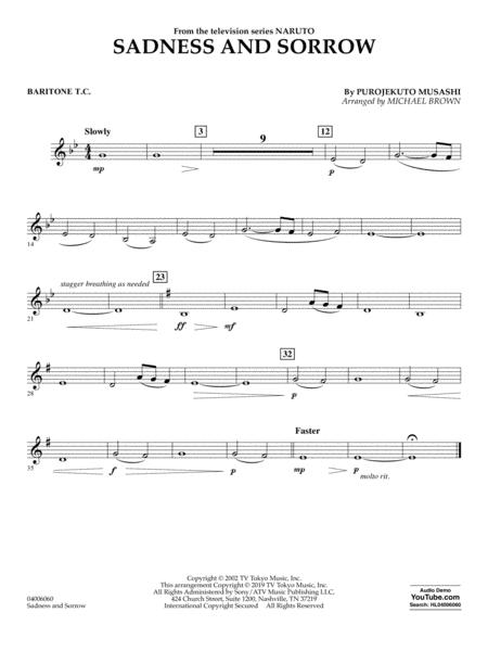 Sadness and Sorrow (from Naruto) (arr. Michael Brown) - Baritone T.C.