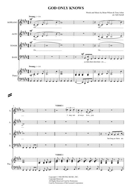 God Only Knows - SATB