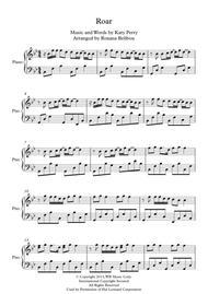Roar by Katy Perry Piano