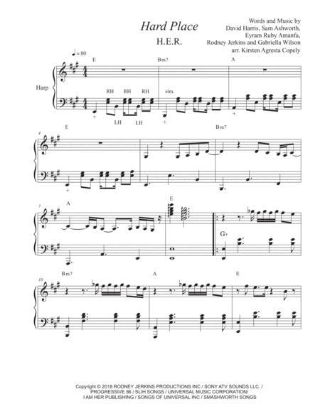 Hard Place - H.E.R. (for solo harp)