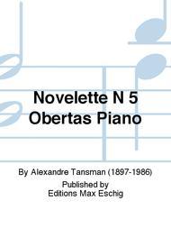 Novelette N 5 Obertas Piano