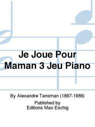 Je Joue Pour Maman 3 Jeu Piano