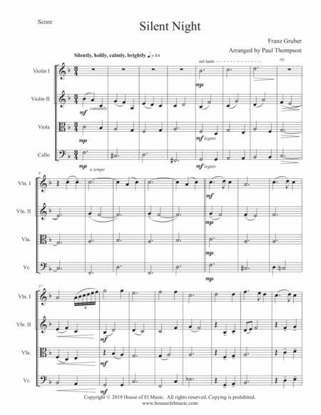 Silent Night - String Quartet