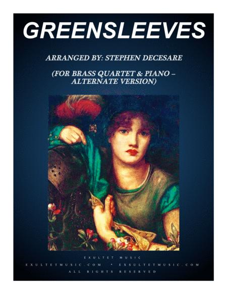 Greensleeves (for Brass Quartet and Piano - Alternate Version)