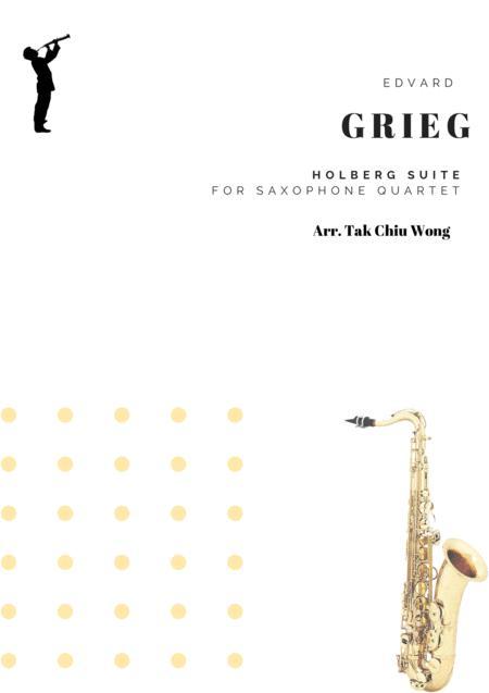 Holberg Suite arranged for Saxophone Quartet Score and Parts
