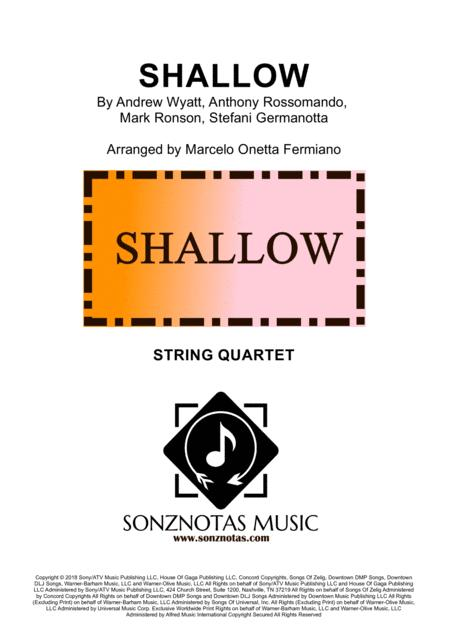 Shallow (Lady Gaga) for String Quartet \| Score and Parts