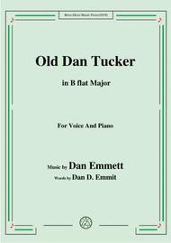Rice-Old Dan Tucker,in B flat Major,for Voice and Piano