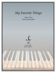 My Favorite Things (1 piano, 4 hand duet)