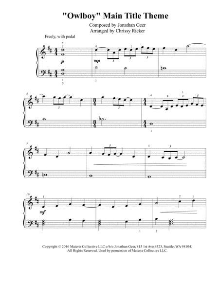 Owlboy Main Title Theme - easy piano