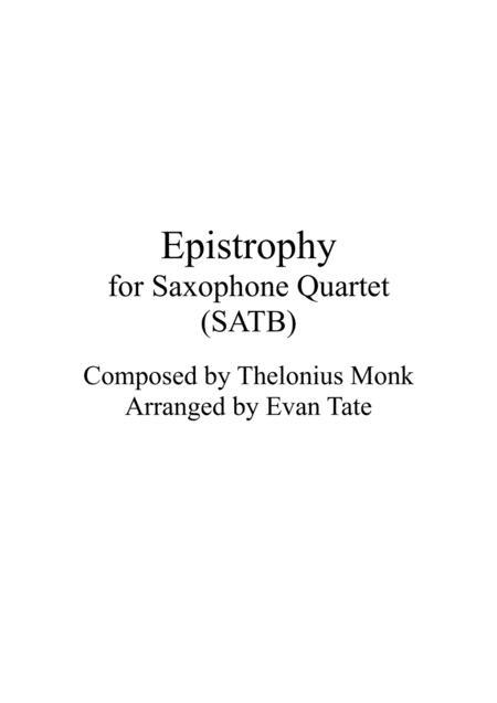 Epistrophy (for Saxophone Quartet)