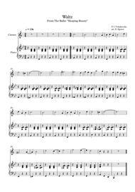 Waltz (Sleeping Beauty), Peter Ilyich Tchaikovsky, For Clarinet & Piano