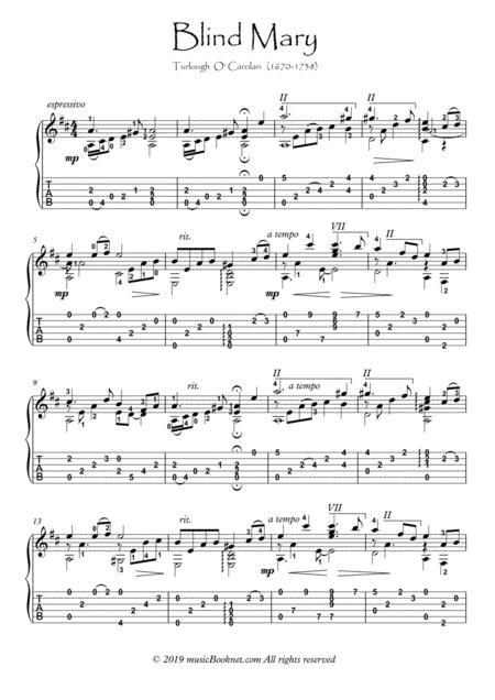 Carolan Blind Mary Guitar solo