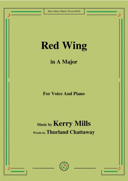 Kerry Mills-Red Wing,in A Major,for Voice&Piano