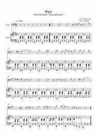 Waltz (Sleeping Beauty), Peter Ilyich Tchaikovsky, For Cello & Piano