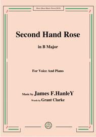 James F. HanleY-Second Hand Rose,in B Major,for Voice&Piano