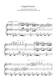 The Sorcerer's Apprentice - Piano solo