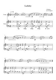 Lullaby, Johannes Brahms, For Violin & Piano