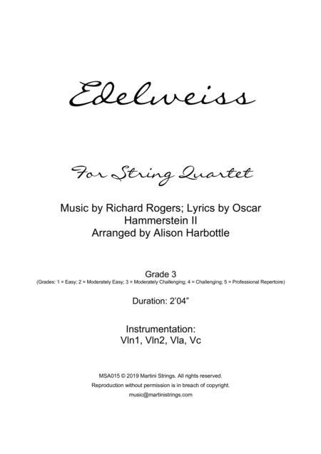 Edelweiss - string quartet