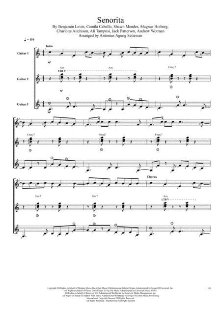 Senorita (Trio Guitar Score)